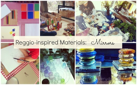 Using mirrors at home - Reggio inspired activities [An Everyday Story]